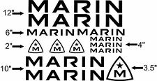 Marin Bike Frame Decal Sheet. Pick Your Color.