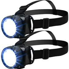Set of 2 LED Head Lamps for Fishing, Camping, Crafts, Extra Light