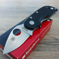 "Spyderco Chicago Folding Pocket Knife Leaf 2"" CTS-BD1 Stainless Blade G10 Handle"