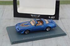 NEO Pontiac Firebird Trans Am Blue 1:87 Scale HO