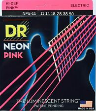 DR NPE-11 Neon PINK Electric Guitar Strings heavy gauges 11-50