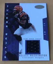 2003 Fleer Football Kelley Washington Jersey Patch Card 341/750