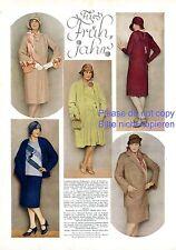 Frühjahrsmode Frühling 1929 1 Seite Fotoabbildungen 20er Kleid Hut Mode Maybaum