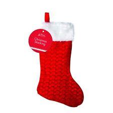 5 x Bulk Traditional Father Christmas Santa Sack Red Stoking Bag Gift Present