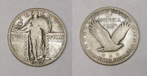 1927-S SILVER QUARTER KEY DATE F/VF NICE! INV#356-40