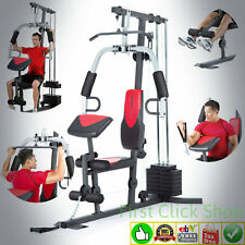 Home Gym Fitness System Machine 214 Lbs Resistance Stack 6 Workout Stations 2980
