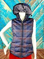 Patagonia Goose Down Puffer Vest Women's Small Plaid Removable Hood