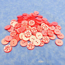 Dill-289097-M Dill Flower Shape 2 Hole Plastic Buttons