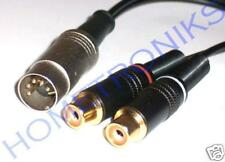 AUDIOPHILE 5 PIN DIN PLUGTO 2x PHONO (RCA) SOCKETS CABLE, LEAD FOR QUAD, NAIM