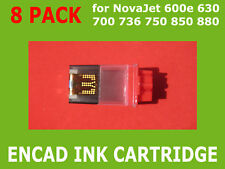 8 Pack Empty Ink Cartridge for Encad NovaJet PRO 600e 630 NEW
