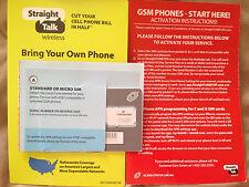 New Straight Talk 4G/Lte Dual Standard /Micro Sim Card