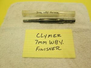 7mm WBY clymer finisher reamer