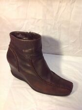 Roberto Vianni Brown Ankle Leather Boots Size 39