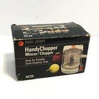 Black Decker Handy Chopper HC20 Mini Mincer Food Processor w/ Box Manual