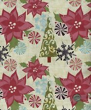 CHRISTMAS 30 PASTEL GRAPHIX HOLIDAY QUILT FABRIC - UNIQUE, AWESOME,  1 ONLY LOOK