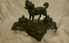 Maitland Smith Cast Iron Dog Inkwell