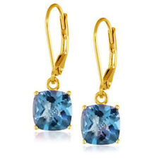 Topaz Leverback Drop/Dangle Fine Earrings