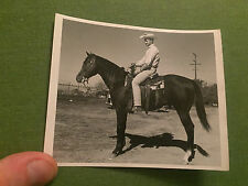 Social History Vintage Photograph Man With Cowboy Hat Riding Horse USA 1950's