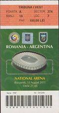 Ticket ROMANIA vs ARGENTINA - 10/08/2011