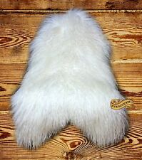 FUR ACCENTS Mongolian Sheepskin Area Rug Long Hair Shag Throw Faux Fur 5 Colors