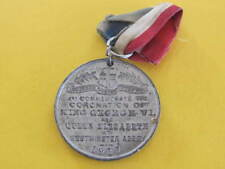KGVI 1937 Coronation Royalty Large Medal 40mm dia