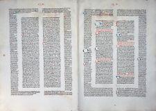 INKUNABEL DOPPELBLATT DECRETUM GRATIANUS SCHÖFFER MAINZ WASSERZEICHEN 1472