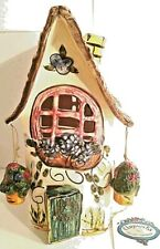 Heather Goldminc's Blue Sky Clayworks Tealight House, Signed Hanging Basket 2000