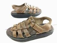 Skechers Women's Shape Ups Toning Sandals Sz 10 Brown Leather