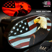 6525-E USA Flag Hitch Cover Eagle Lighted Hitch Cover US Flag Eagle