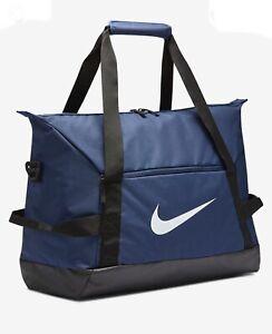 Nike Academy Team Duffel Bag Gym Training Sports Football  New 48L Medium Blue