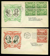 785-794 COMPLETE SET OF 10 MATCHED FDC ON LINPRINT CACHETS PLANTY #P8