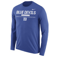 Duke Blue Devils Mens Nike Legend Staff DRI-FIT Long Sleeve T-Shirt - XXL - NWT