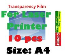 .10 x A4 Screen Printing Transparency Film for Laser printer AU local fast ship