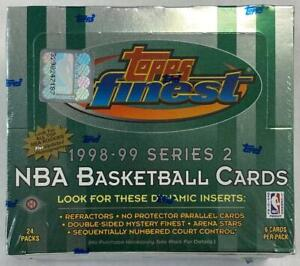 1998-99 TOPPS FINEST BASKETBALL SERIES 2 FACTORY SEALED BOX
