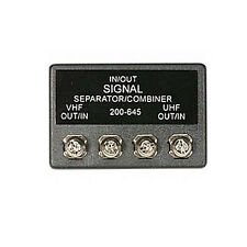 Signal Separator Combiner Splitter UHF/VHF 75 - 300 Ohm Band Separator Antenna