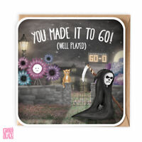 Funny 60th Birthday card, Grim Reaper, Sarcastic, Dad, Uncle 60th, Gothic