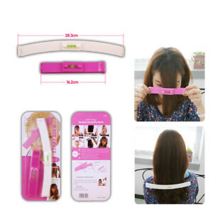 DIY Professional Bangs Hair Cutting Clip Set Comb Hairstyle Trim Ruler Tool Kit
