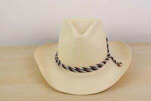Resistol self conforming R1950 Panhandle Straw Cowboy hat 6 7/8 ranch wear