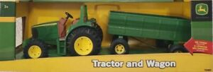 "Tomy John Deere 8"" Tractor w/ Flare Box Wagon #37163 - NIB w/ FREE US Shipping!"