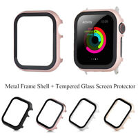 Frame Tempered Glass Screen Protector For Apple Watch iWatch Series 4/3/2/1