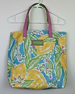 Estee Lauder Lilly Pulitzer Print Large Canvas Beach / Tote Bag Multi-color