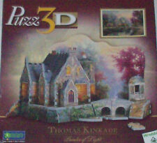 Puzz 3D Thomas Kinkade LAMPLIGHT MANOR 255 Piece Puzzle New Sealed Wrebbit