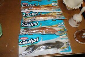 """4 Berkley Gulp! Saltwater Squid 10"""""""