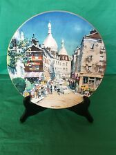Royal Doulton Cabinet Plate Signed Dong Kingman Montmartre 1978 # 4325
