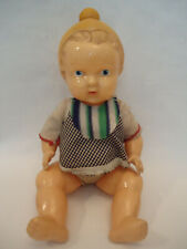 Vintage Rare USSR Russian Celluloid Baby Kid Doll Toy + Clothes