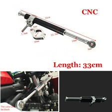 Black CNC 330mm Steering Damper Motorcycle Adjust Stabilizer Safety Control Part