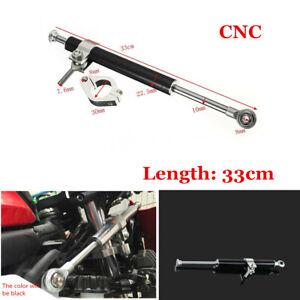 Black CNC 330mm Steering Damper Motorcycle Adjust Stabilizer Safety Control Part
