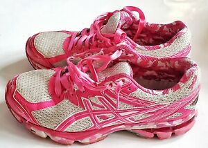 Asics Gel GT-1000 T4L8N White Pink Breast Cancer Running Shoes Women Size 8 104