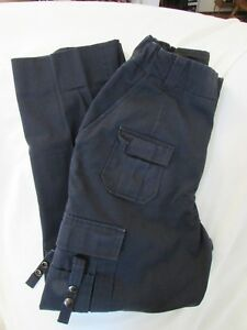 "Ladies ""Horace Small"" Size 10, Navy, Side Elastic Waist, Multi Pocket, EMT Pants"