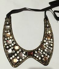 *BRAND NEW* Gorgeous PETER PAN COLLAR NECKLACE WITH Coloured Crystals